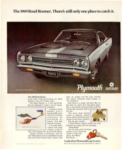 1969 Plymouth Ad Courtesy Old Car Advertising dot com