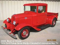 2006 Best of Show - 34 Ford Pickup - Owner Marilyn Campbell - Horseshoe Bay