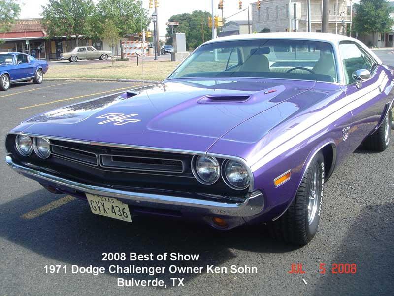 2008 Best of Show - 71 Dodge Challenger - Owner Ken Sohn - Bulverde