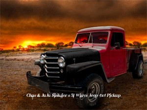 Chas & JuJu Sinklier's 51 Willys Jeep Pickup Rat Rod