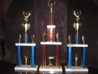 Trophies for the 2014 HCAC Car Show in Kerrvile Saturday July 5