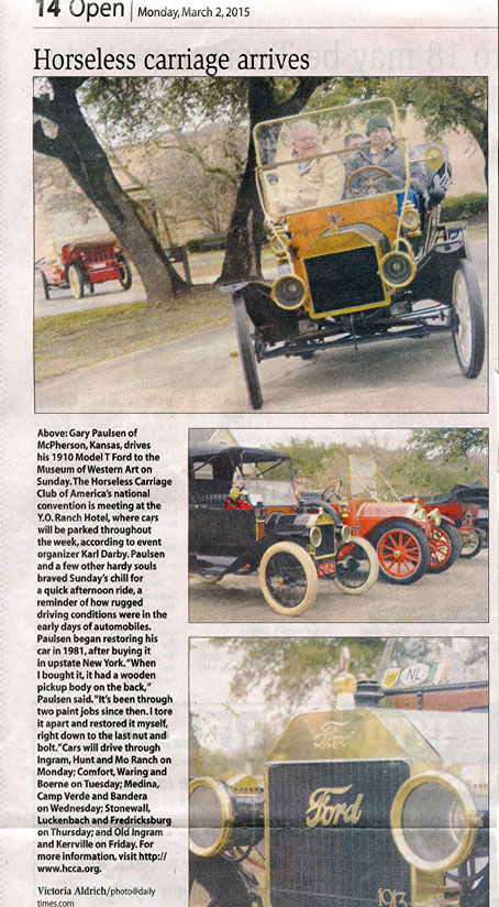 Horseless Carriage Club at YO first week of March, 2015