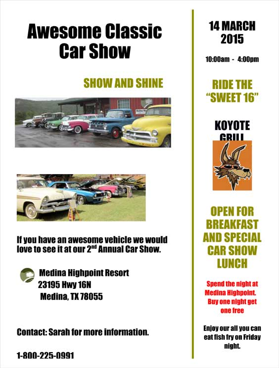 Medina Highpoint Resort Car Show