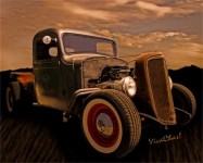 Rat Rod Jeep - no it's a 1936 Chevy Rat Rod Pickup