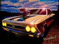 Ford Cop Car Thrash - Camaro 200 mph - Draguar - Fire & Loud Noises - Nitrous Cuda