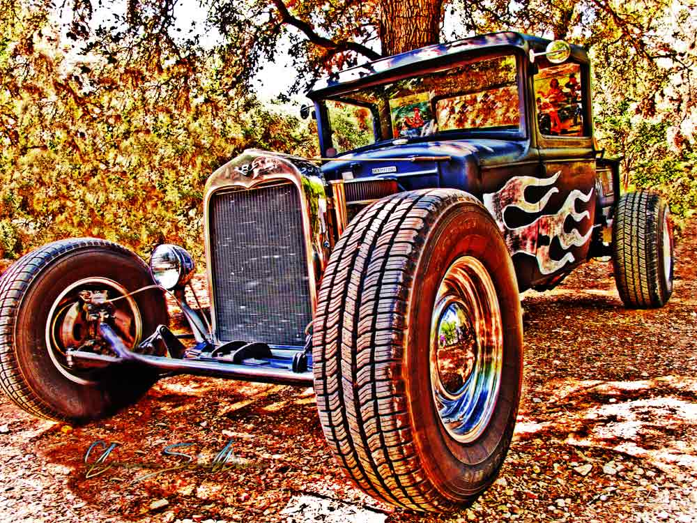 31 Ford Rat Rod PickUp Chalk Board Paint