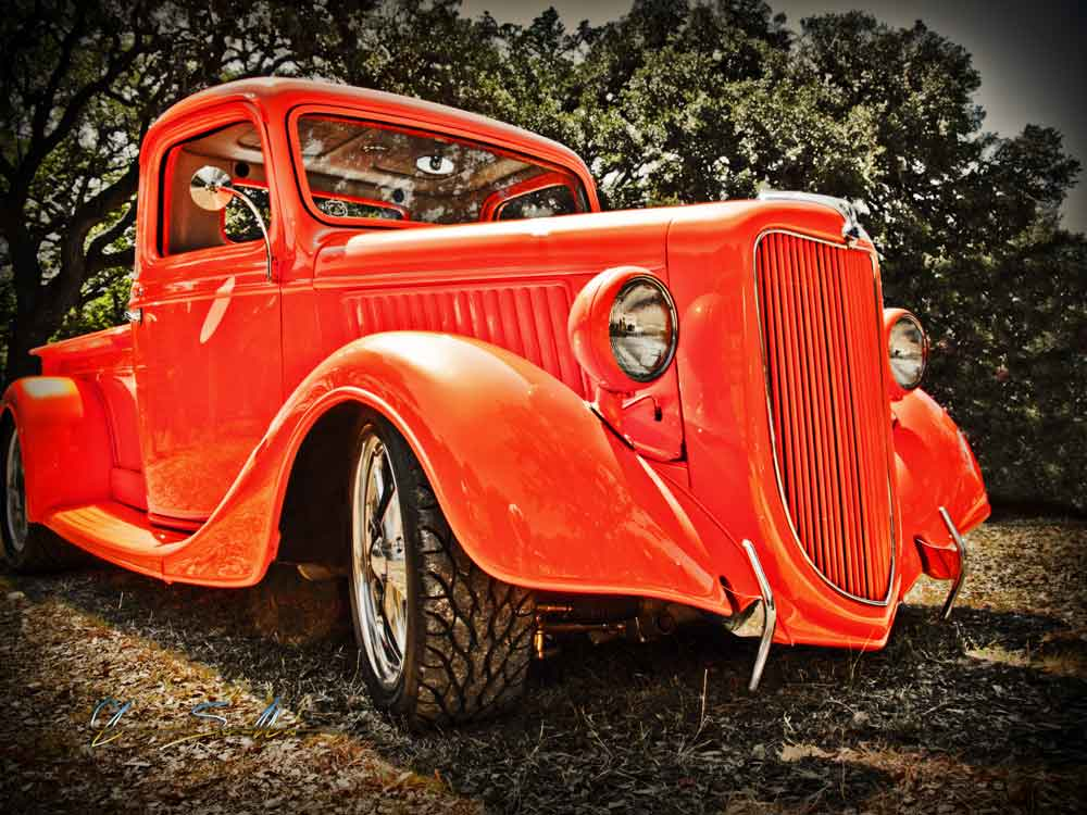 36 Ford Pickup Luckenbach Hot Rod