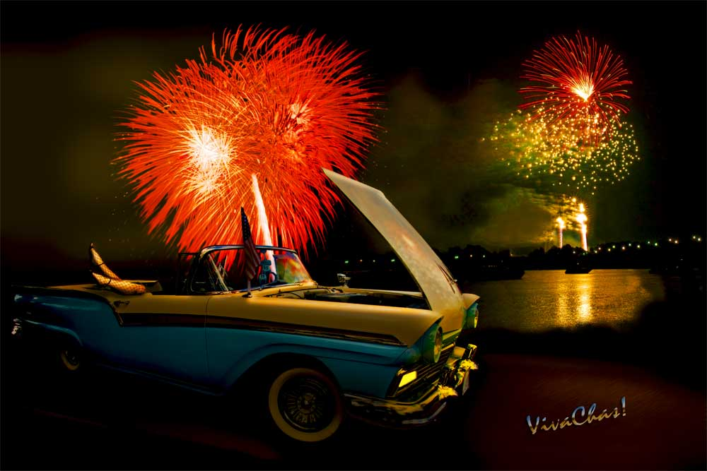 57 Ford Convertible Classic A Night To Remember