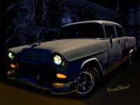 Bad 55 Chevy Rat Rod