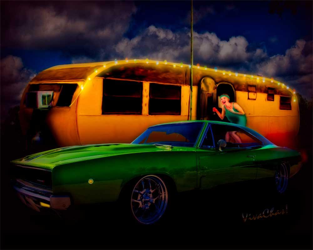 Trailer Park Christmas Charger Caravan Christmas