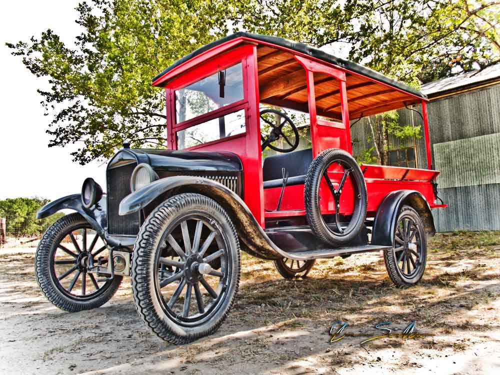 Model T Delivery Truck On a Summer Morning Drive to Luckenbach