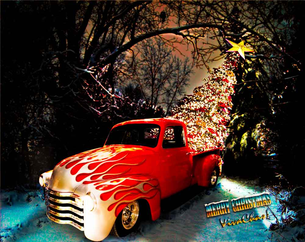 Hot Rod Merry Christmas From VivaChas 0