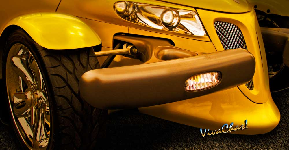 Yellow Plymouth Prowler Detail Production Hot Rod Classic