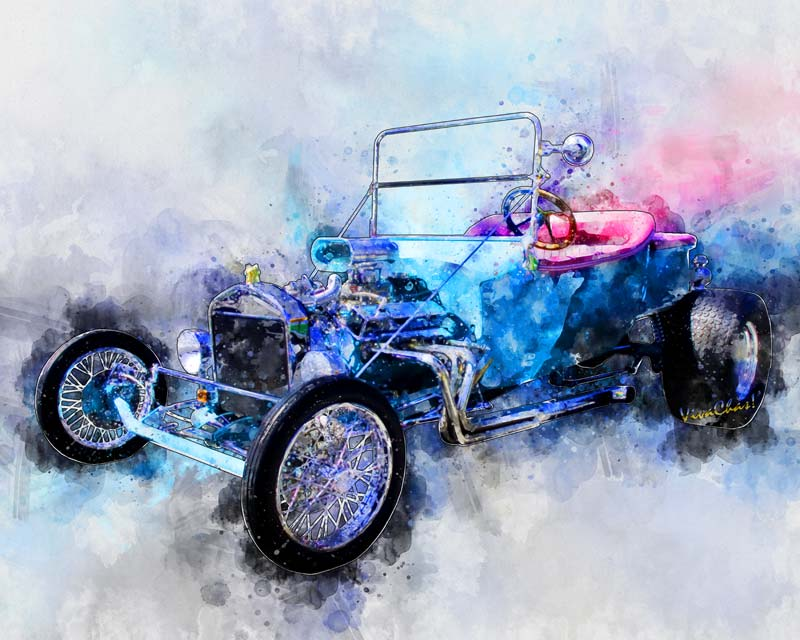 23 T Hot Rod Watercolour from VivaChas!