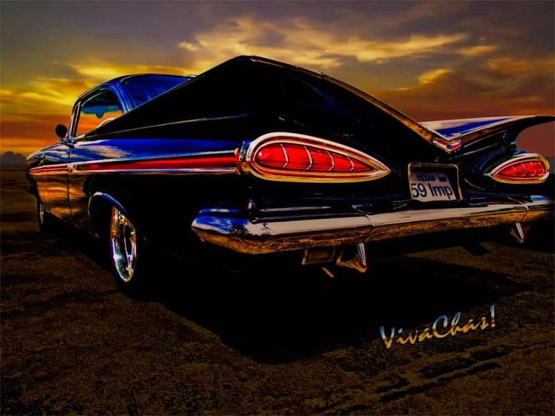 59 Chevy Impala Hardtop is extreme Fifties Modern Design