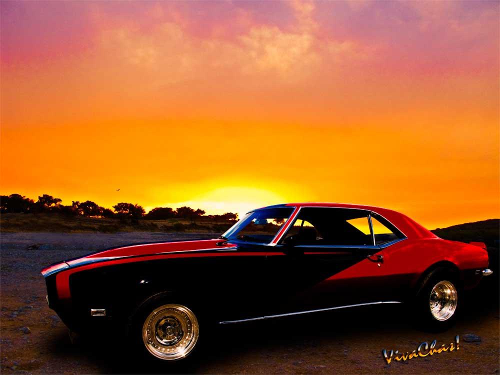 69 Camaro Rocky Ridge Sunset Chevrolet Chevy Camaro