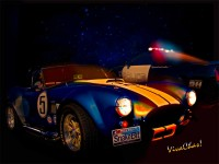 Cobra Arrested Development – A Shelby Cobra and a Saleen Prepared Police Pursuit Mustang Together in the Moonlight