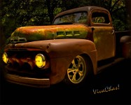 Ford Rat Rod Truck is a portrait in the glories of surface patina on an experienced rod or pickup