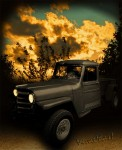 Willys Jeep Pickup Truck Sunset