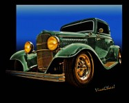 32 Ford Coupe Jumps Off The Page Almost Like 3-D