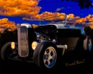 32 Ford Roadster in Black & Silver