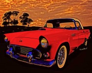 56 T-Bird Red in a Red Land! Click the Pix to order a print or gift!