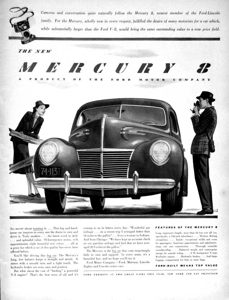 39 Mercury Ad from our friends at Old Car Advertising ~:0)