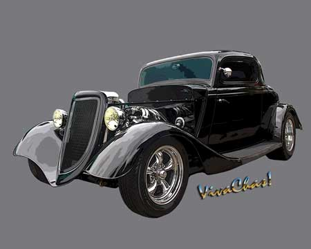 Gallery of Cars - 34 Ford Coupe On Grey