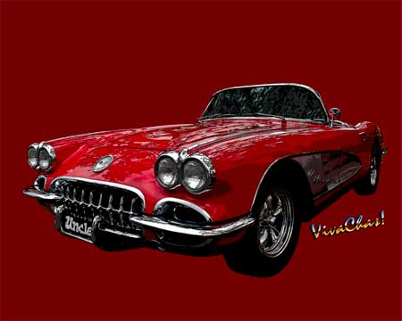 Gallery of Cars - 60 Red Corvette