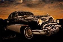 Big Black Buick Art Deco At Its Best