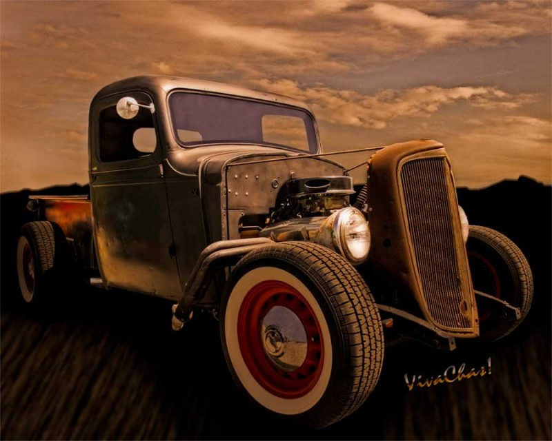 Chevy Rat Rod Pickup 1936 Saw This Rod\'s Birth