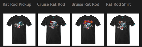 VivaChas Hot Rod Art Tees - click to shop