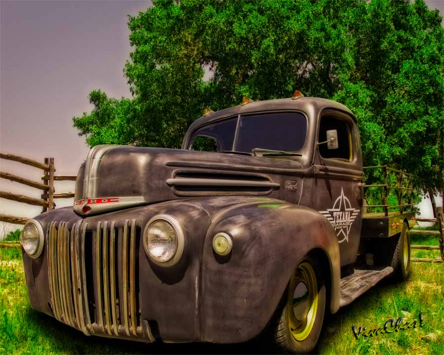 Texana Rat Rod Flatbed Truck catching a few rays at Joshua Springs outside Comfort Texas
