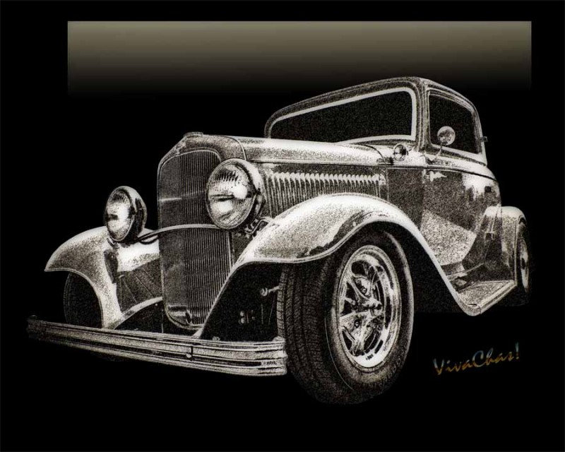 32 Ford Coupe Sketch of a Classic Street Rod ~:0) VivaChas!