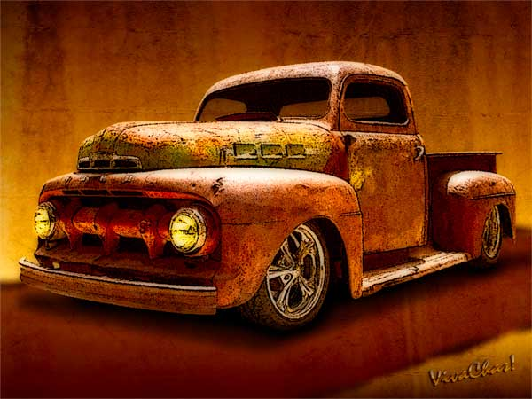Ratty Pickup Tearing Down the Road Making Some Noise - Woot!  ~:0) VivaChas!