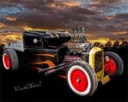 Flaming Rat Rod River Side Picnic is the Place U Want to Be ~:0) VivaChas!