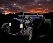 Low Boy Roadster Meets Morning's Rosy Glow from VivaChas!