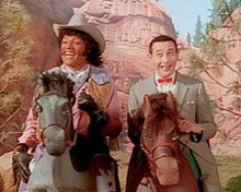 "Cowboy Curtis (Laurence Fishburne) and Pee-wee on the 1990 episode ""Camping Out"" - Pix Wiki"