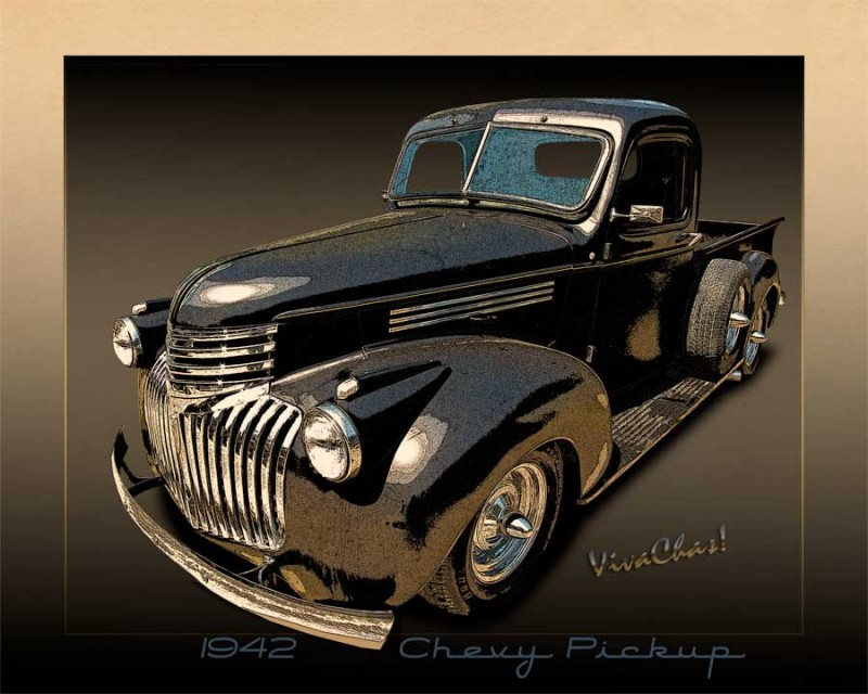 42 Chevy Pickup Rat Rod a Rare Breed with the Advent of WWII  ~:0) VivaChas!