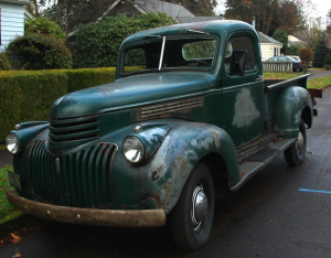 42 Chevy Pickup photo source - Old Parked Cars dot com - great site ~:0)