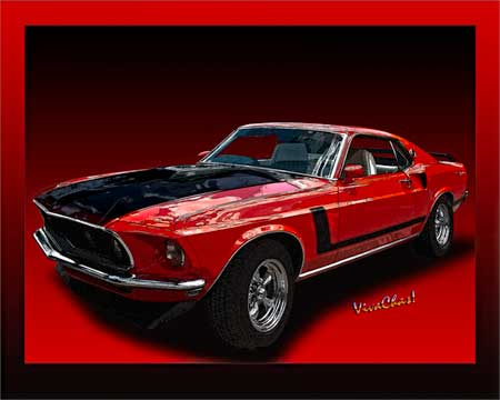 Mach 1 Mustang done up poster style for U minimalist ~:0)