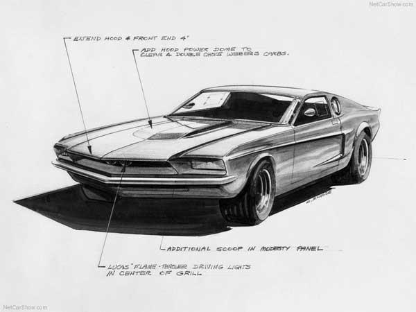 Mach 1 Mustang Concept Sketch