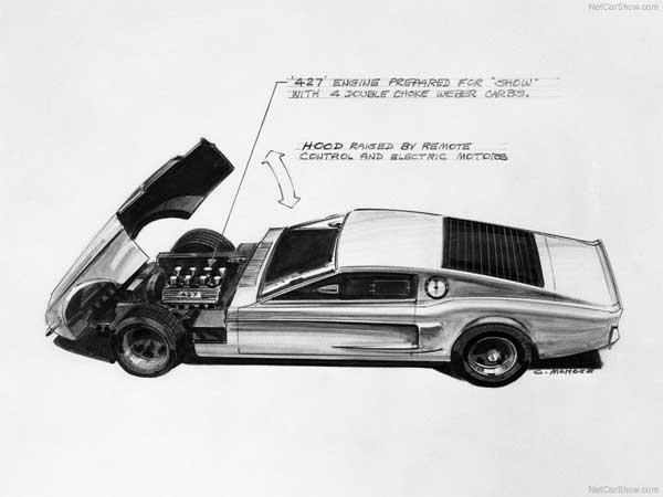 Mach 1 Mustang Concept Sketch - 2