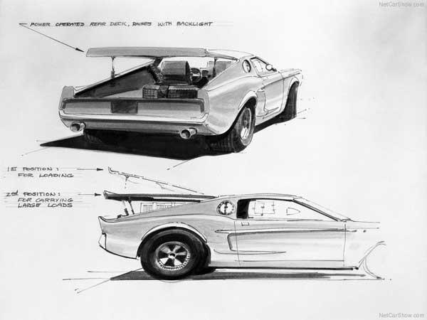 Mach 1 Mustang Concept Sketch - 3
