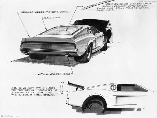 Mach 1 Mustang Concept Sketch - 4