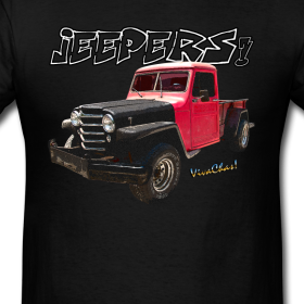 51 Willys Jeep Pickup Rat Rod T-Shirt from VivaChas!