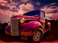 39 Chevy Pickup Maroon'd for Halloween Night at the VivaChas! Clubhouse!