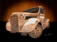 39 Chevy Pickup Drawing is All About the Bomp!