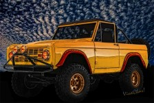 Digital Painting of 69 Ford Bronco 4x4 and a Buttermilk Sky - Bewdy! ~:0) VivaChas!