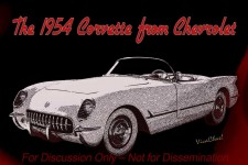 The 1954 Corvette from Chevrolet back-in-the-day as an early concept drawing - marked For Discussion Only - Not for Dissemination - - - Now that's a Fun Poster Tribute! ~:0) VivaChas!